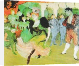 Dance at the Moulin Rouge, 1890 by Henri de Toulouse-Lautrec