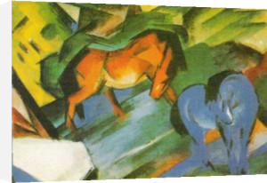 Rotes und Blaues Pferd by Franz Marc
