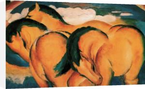 Die kleinen gelben Pferde (detail) by Franz Marc