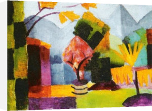 Garden by the Lake by August Macke