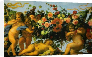 Angels with Garlands of Flowers by Carlo Maratta