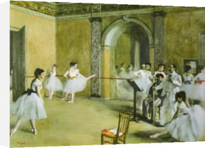 The Dance Foyer at the Opera, 1872 by Edgar Degas