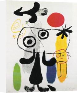 Figure against Red Sun II, 1950 by Joan Miro