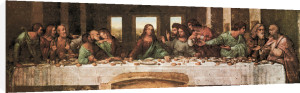 The Last Supper (detail) by Leonardo da Vinci