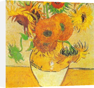Sunflowers on Gold (Detail 2) by Vincent Van Gogh