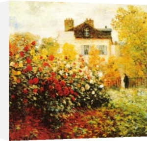The Artist's Garden in Argentuil (detail) by Claude Monet