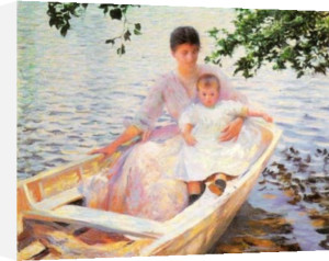 Mother and Child in a Boat by Edmund Charles Tarbell