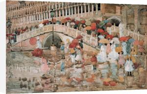 Umbrellas in the Rain, Venice by Maurice Prendergast
