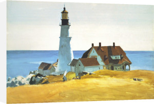 Lighthouse and Buildings, Portland Head, Cape Elizabeth by Edward Hopper