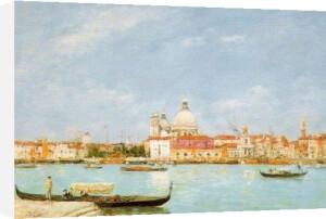 Venice, Santa Maria della Salute from San Giorgio by Eugene Louis Boudin