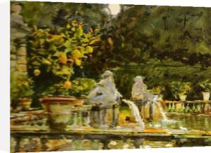 Villa di Marlia, Lucca, A Fountain 1910 by John Singer Sargent