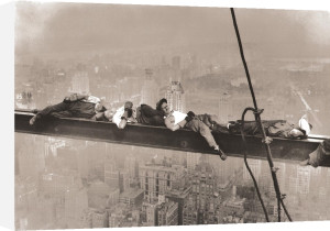 Rockefeller Center,1932 (Resting On A Girder) by Anonymous