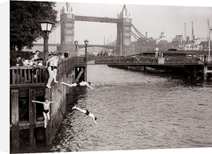 Weather Hot London Tower Bridge - June 1952 by Mirrorpix