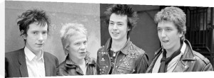 Sex Pistols punk rock band in London, 1976 by Mirrorpix
