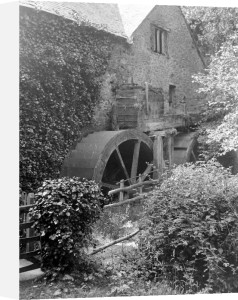 Old water mill, 1920 by Mirrorpix