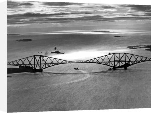 Royal Navy battleship passes Forth bridge by Mirrorpix
