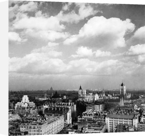 London from the Tower of Westminster Cathedral, 1960 by Mirrorpix