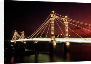 Albert Bridge, London 1980 by Mirrorpix