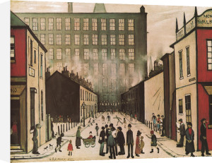 Street Scene (Pendlebury) - (large) by L S Lowry