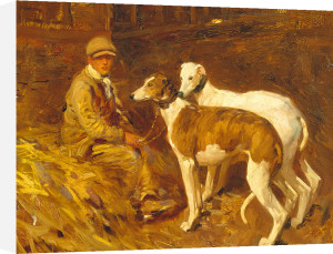 Boy with Greyhounds by Sir Alfred Munnings