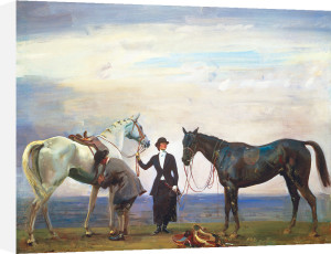 Changing Horses by Sir Alfred Munnings