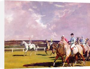 Steeplechasing by Sir Alfred Munnings