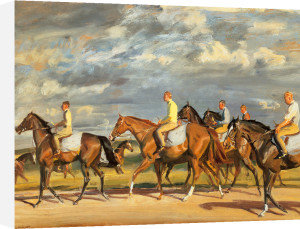 Exercising Early Morning Newmarket by Sir Alfred Munnings