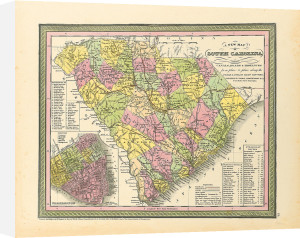 A New Map of South Carolina by S. A. Mitchell