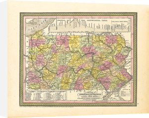 A New Map of Pennsylvania by S. A. Mitchell