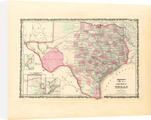 New Map of the State of Texas by Johnson