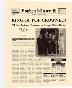 King Of Pop Crowned by London Herald