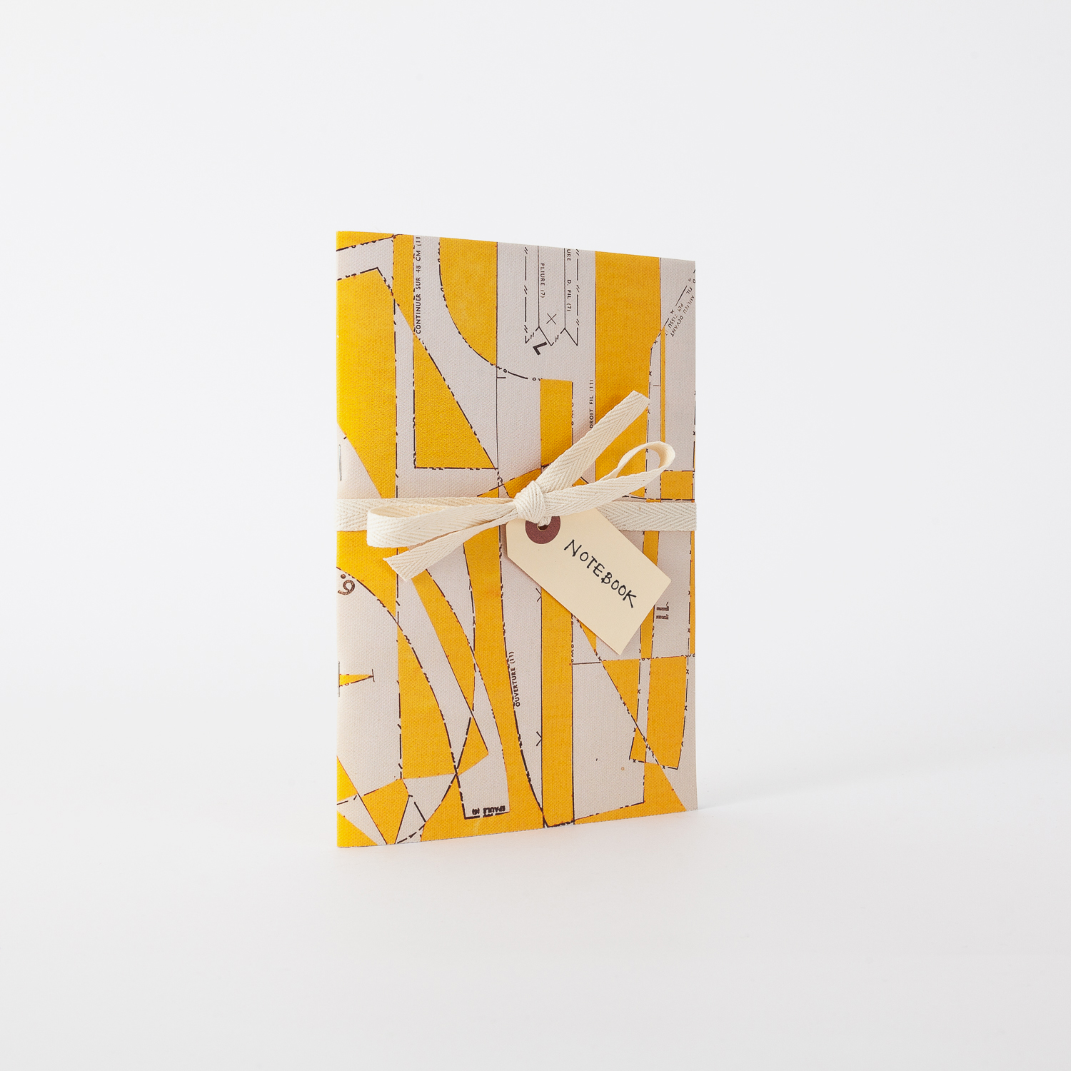 Homi yellow canvas notebook