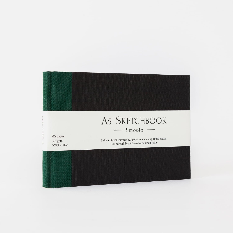 A5 sketch block green
