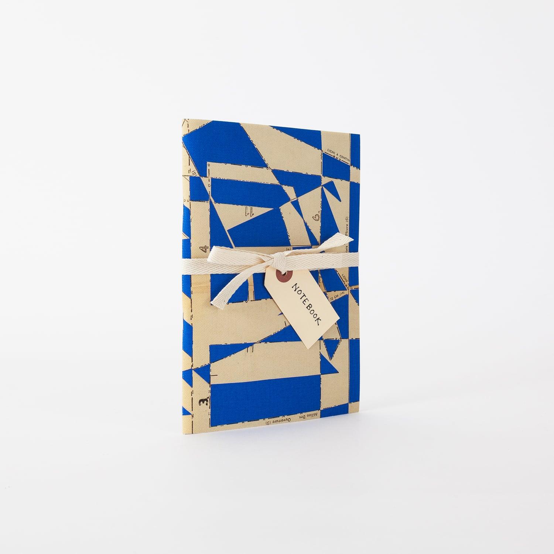 Homi blue canvas notebook