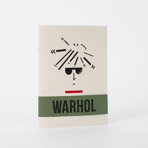 Warhol Arty Types notebook