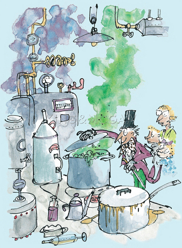 Roald Dahl - Charlie and the Chocolate Factory (Willy Wonka) Art ...