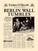 Berlin Wall Tumbles by London Herald