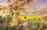 Spring, Picking Flowers by Alfred Augustus Glendening