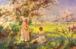 Spring Picking Flowers
