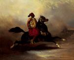 Nubian Horseman at a Gallop by Alfred de Dreux