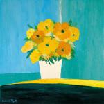 Fleurs Jaunes au Pot Blanc by Bernard Payet