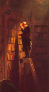 The Bookworm (l) by Carl Spitzweg