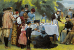 Tea At Wimbledon by Edward Brewtnall