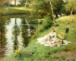 Picnic on the Riverbank by Fernand Toussaint