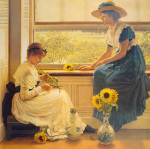 Sun and Moon Flowers by George Dunlop Leslie