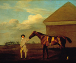Firetail and Trainer on Newmarket Heath by George Stubbs