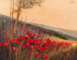Field of Poppies by Gilbert Michaud