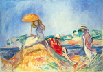 The Yellow Parasol by Henri Lebasque