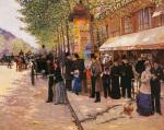 On the Boulevard by Jean Beraud