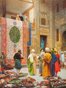 The Carpet Market by Jean-Leon Gerome
